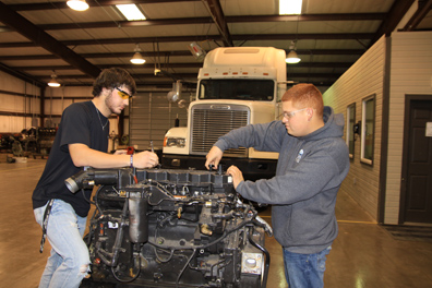 Diesel Mechanic 2 majors in college